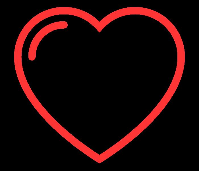 icone en forme de coeur